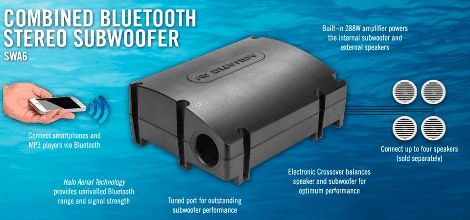 Système de son de luxe pour les bains à remous et les piscines de spa de natation