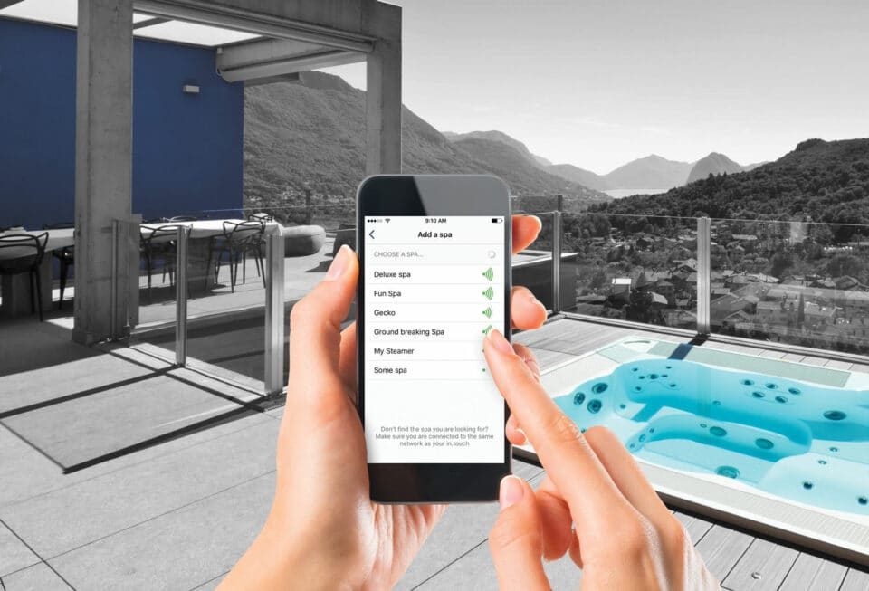 contrôle bain bain spa piscine téléphone mobile